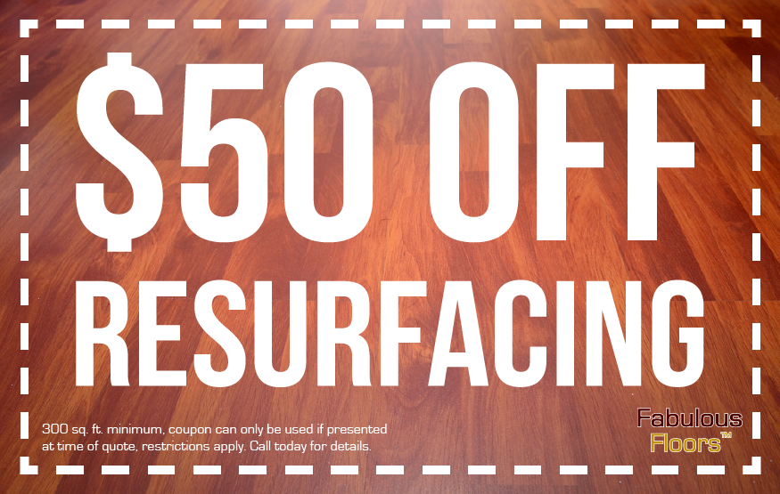 Get $50 off floor resurfacing in Charleston, SC