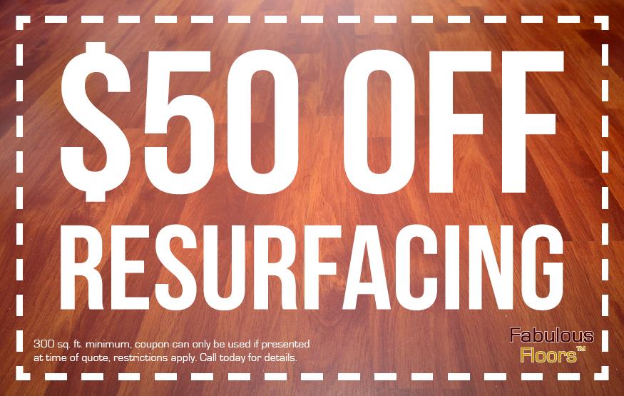 Get $50 off floor resurfacing in Charleston, SC