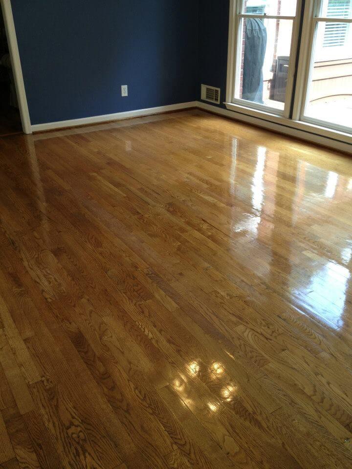 a resurfaced hardwood floor