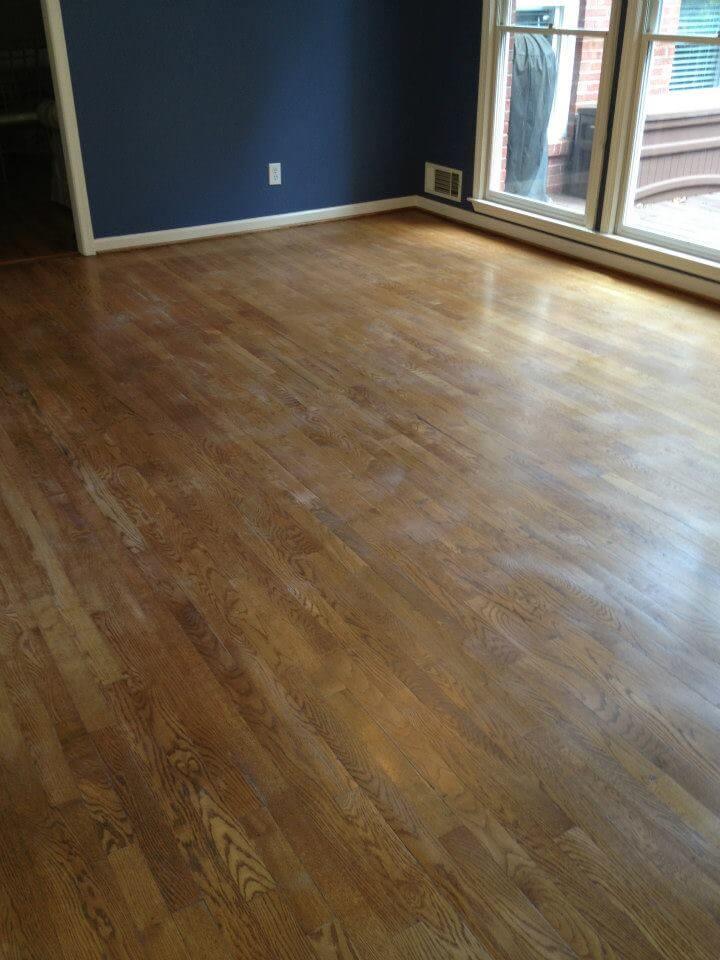 lightly scuffed hardwood floor