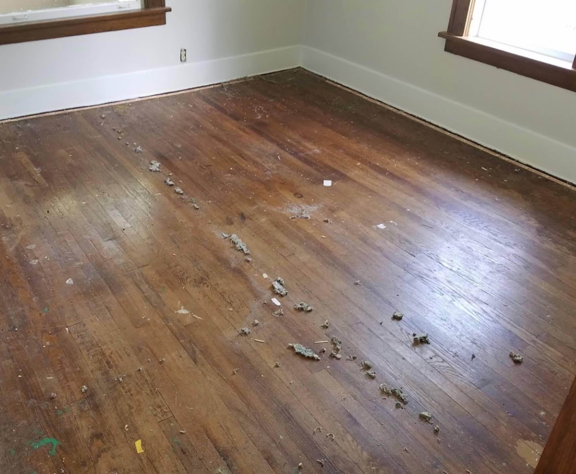 dusty old hardwood floor in the charleston area